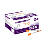 cirurgica-campinas-Seringa Insulina Uniqmed 0,3ml (30ui) Agulha 30g (8mm)
